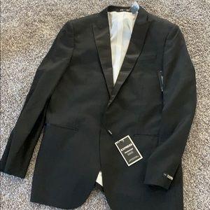 Express Producer Slim satin tuxedo suit jacket 42L